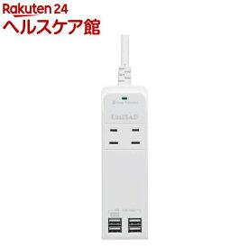 プリンストン 4ポートUSB給電機能付4個口OAタップ Unitap ホワイト PPS-UTAP5WH(1コ入)【プリンストン(Princeton)】