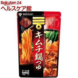 ミツカン 〆まで美味しい キムチ鍋つゆ ストレート(750g)【ミツカン】