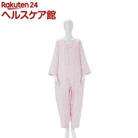 ソフトケア ねまき 両開きファスナー スリーシーズン ピンク M(1枚入)【ソフトケア(介護用品)】