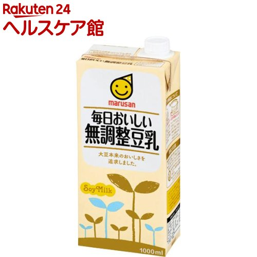 マルサン 毎日おいしい無調整豆乳(1L*6本入)