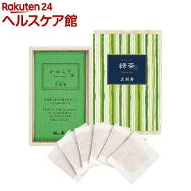 かゆらぎ 緑茶 名刺香 桐箱(6枚入)【かゆらぎ】