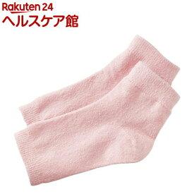 シルク混おやすみ かかとカバー ピンク(1足組)