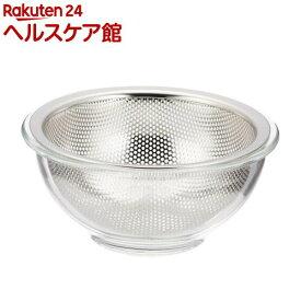 イシガキ産業 耐熱ガラスボウル&ステンレスパンチングザル 15cm(1セット)