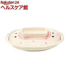 レンジでチン!かんたん目玉焼き ドットピンク&ホワイト(1コ入)