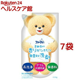 ファーファ 液体洗剤 香りひきたつ無香料 詰替(0.9kg*7コセット)【slide_e1】【ファーファ】
