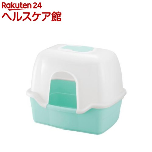 リッチェル コロル ネコトイレ F60フード付 ライトブルー(1コ入)【コロル】