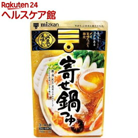 ミツカン 〆まで美味しい 寄せ鍋つゆ ストレート(750g)【ミツカン】