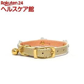 ペット用首輪 Sサイズ WO-057 ゴールド(1本入)