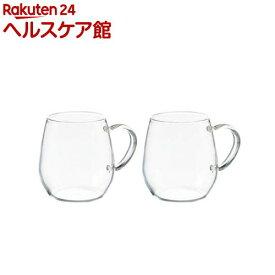 ハリオ 耐熱ガラス ラウンドマグ RDM-1824(2コ入)【ハリオ(HARIO)】