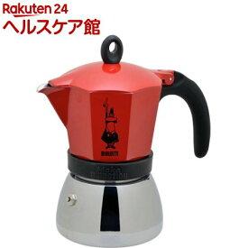 Moka Induction IH対応 直火式エスプレッソメーカー 6cup用 レッド 4923(1台)【BIALETTI(ビアレッティ)】