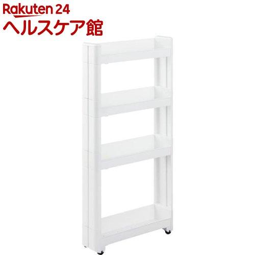 不動技研 スマートワゴンFit W100 45-4段 ホワイト F2571(1コ入)【不動技研】