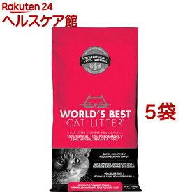 猫砂 ワールドベストキャットリッター マルチキャット クランピングフォーミュラ(3.18kg*5コセット)【ワールドベストキャットリッター(WBCL)】