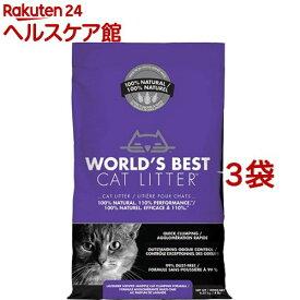 猫砂 ワールドベストキャットリッター マルチキャットクランピング<ラベンダー>(6.35kg*3コセット)【ワールドベストキャットリッター(WBCL)】