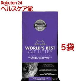 猫砂 ワールドベストキャットリッター マルチキャットクランピング<ラベンダー>(3.18kg*5コセット)【ワールドベストキャットリッター(WBCL)】