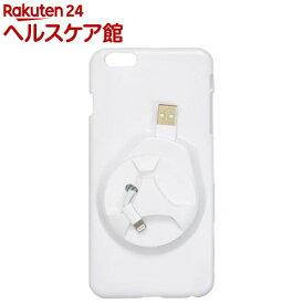 df6db1a5a8 サンコー iPhone6ケース with イヤフォン&ケーブル収納 ホワイト IP6CAWH7(1セット)