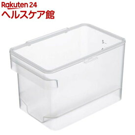 密閉シンク下米びつ プレート クリア(1コ入)【山崎実業】