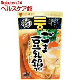 ミツカン 〆まで美味しいごま豆乳鍋つゆ ストレート(750g)【〆まで美味しい】