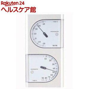 タニタ 温湿度計 パールホワイト TT-518-PR(1コ入)【タニタ(TANITA)】
