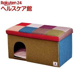 Porta ドッグハウス&スツール モザイク ワイド(1コ入)【ペティオ(Petio)】