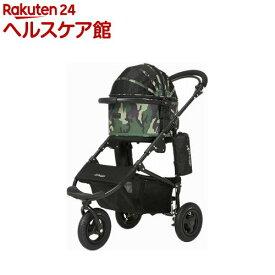 エアバギーフォードッグコットプラス ブレーキ カモフラージュ(1台)【AIRBUGGY FOR PET】