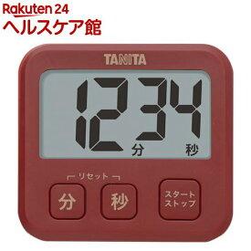 タニタ 薄型タイマー レッド TD-408-RD(1コ入)【タニタ(TANITA)】