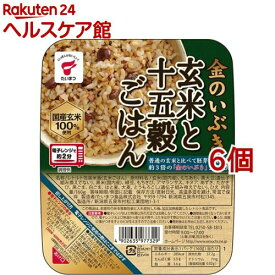金のいぶき 玄米と十五穀ごはん JR-4(160g*6コセット)