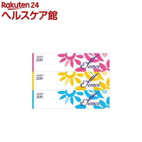 エルモア ティシュー 400枚(200組)(3箱)【エルモア】