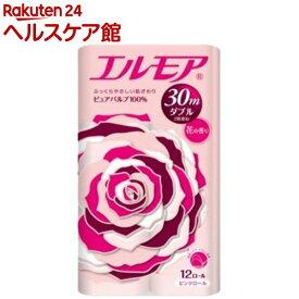 エルモア トイレットロール 花の香り ピンクダブル 2枚重ね30m(12ロール)【エルモア】[トイレットペーパー]
