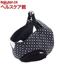 ペティオ アルファッション ハートドットベストハーネス S ブラック(1コ入)【アルファッション(ARFashion)】
