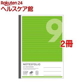 A4ノーツフォリオ 9ミリ グリーン(1冊*2コセット)【アピカ】