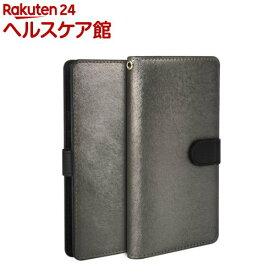 ハンスマレ HUAWEI P10 Liteカーフダイアリー メタルブラック HAN11882HP10L(1コ入)【ハンスマレ(HANSMARE)】