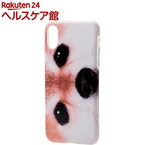 エレコム iPhoneX ソフトケース テクスチャー 柴犬PM-A17XUCAT07(1コ入)【エレコム(ELECOM)】