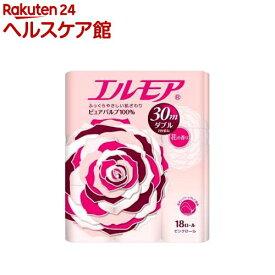 エルモア トイレットロール 花の香り ピンクダブル 2枚重ね30m(18ロール)【エルモア】