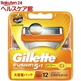 ジレット フュージョン5+1パワー 替刃12B(12コ入)【ジレット】