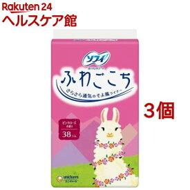 ソフィ ふわごこち ピンクローズの香り(38枚入*3コセット)【ソフィ】