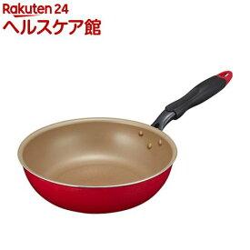 エバークック 深型フライパン 26cm炒め レッド(1コ入)【エバークック(evercook)】