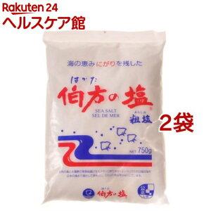 伯方の塩 粗塩(750g*2コセット)【伯方の塩】