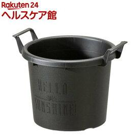 グロウコンテナ 18型 ブラック(1コ入)【大和プラスチック】