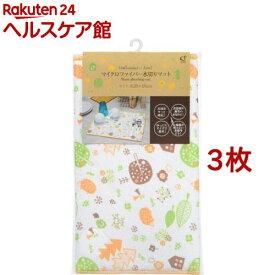 マイクロファイバー水切りマット L ハリネズミと森 オレンジ(3枚セット)【オカザキ】