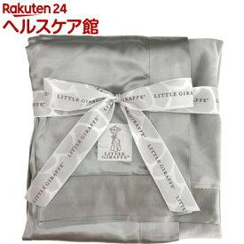 リトルジラフ ベルベットデラックス ベビーブランケット シルバー(1枚)【リトルジラフ】