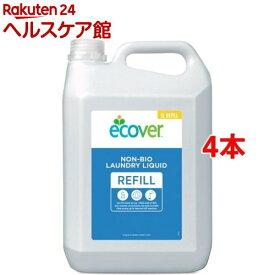 エコベール ランドリーリキッド リフィル 大容量パック 洗たく用液体洗剤(5L*4本セット)【slide_e1】【エコベール(ECOVER)】