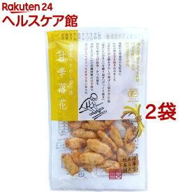 精華堂 手のし柿の種 甘辛落花(38g*2コセット)【精華堂】