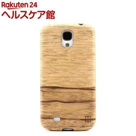 マン&ウッド GALAXY S4 ウッドケース テラ ブラック I2188S4(1コ入)【マン&ウッド(Man&Wood)】