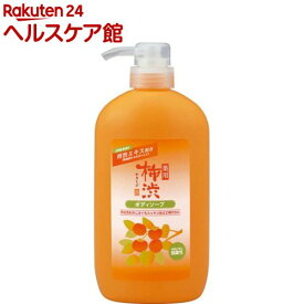 薬用 柿渋 ボディソープ(600ml)【more30】【薬用柿渋(熊野油脂)】