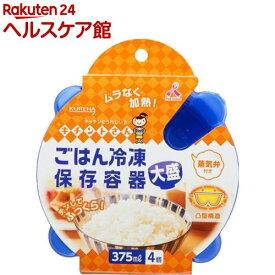 キチントさん ごはん冷凍保存容器 大盛 375ml(4コ入)【more30】【キチントさん】