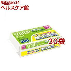 スコッティ ペーパーふきん サッとサッと(400枚(200組)入*30袋セット)【スコッティ(SCOTTIE)】