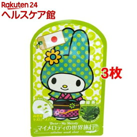 ベニコ*マイメロディ 世界旅行マスクシート 日本(1枚入*3コセット)【ベニコ(Benico)】[パック]