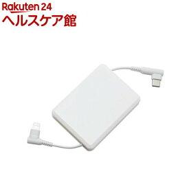 ミヨシ Lightning-USB Type-Cケーブル コードリール 1m ホワイト SCL-M10/WH(1個)