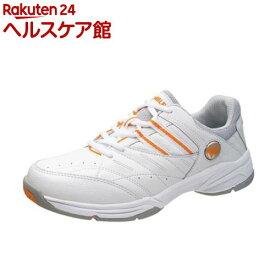 アサヒ ウィンブルドン WL-3500 ホワイト/オレンジ 24.0cm(1足)【ウィンブルドン(WIMBLEDON)】