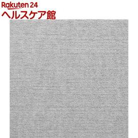 おくだけ吸着 アレンジ四角マット ライトグレー KV-26(4枚入)【おくだけ吸着】